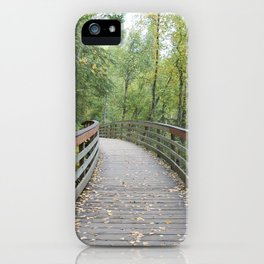 Walking Bridge in the Woods iPhone Case