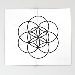 Seed of life Throw Blanket
