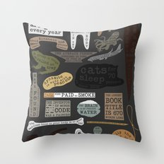 22 Facts - Useful Facts Throw Pillow