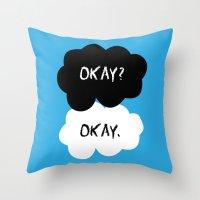 okay Throw Pillows featuring Okay by alboradas