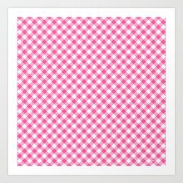 Pink Roses in Anzures 1 Gingham 1 Art Print