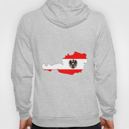 Austrian Flag and Map Hoody