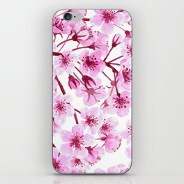 Cherry blossom pattern iPhone Skin