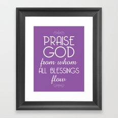 Doxology Framed Art Print