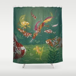 Ukiyo-e tale: The magic pen Shower Curtain