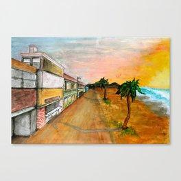 Horizon Sunset Canvas Print