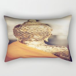 Buddha the other side  Rectangular Pillow