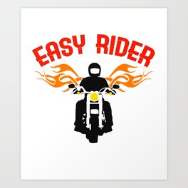 """Easy Rider"" tee design for both cars and motorcycle riders out there! Makes a nice gift too!  Art Print"