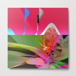 spring asterisk. pink Metal Print
