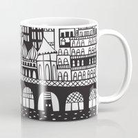 england Mugs featuring Brighton, England by Caroline Rees