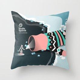 Mitten cave Throw Pillow