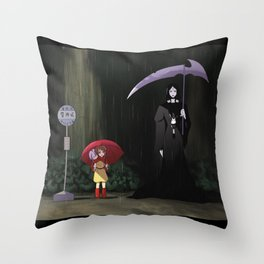 my neighbor moira Throw Pillow