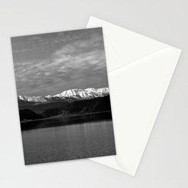 Winter Monochrome Lake Stationery Cards