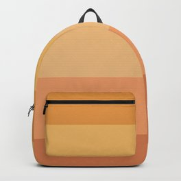 terracotta stripes Backpack