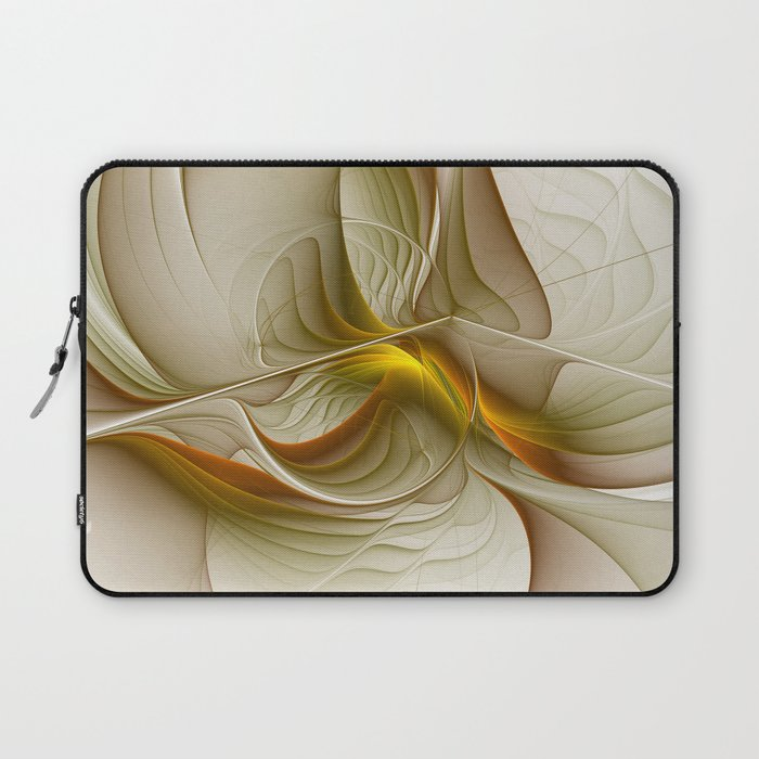 Abstract With Colors Of Precious Metals, Fractal Art Laptop Sleeve