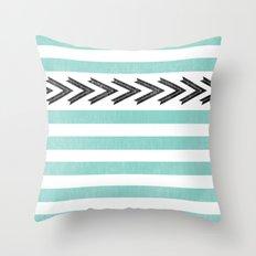 ARROW STRIPE {TEAL} Throw Pillow