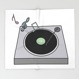 Record Player Throw Blanket
