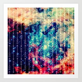 Galaxy Arrows Art Print