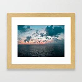 Somewhere Over The Sunset Framed Art Print