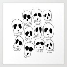 Skulls-1 Art Print