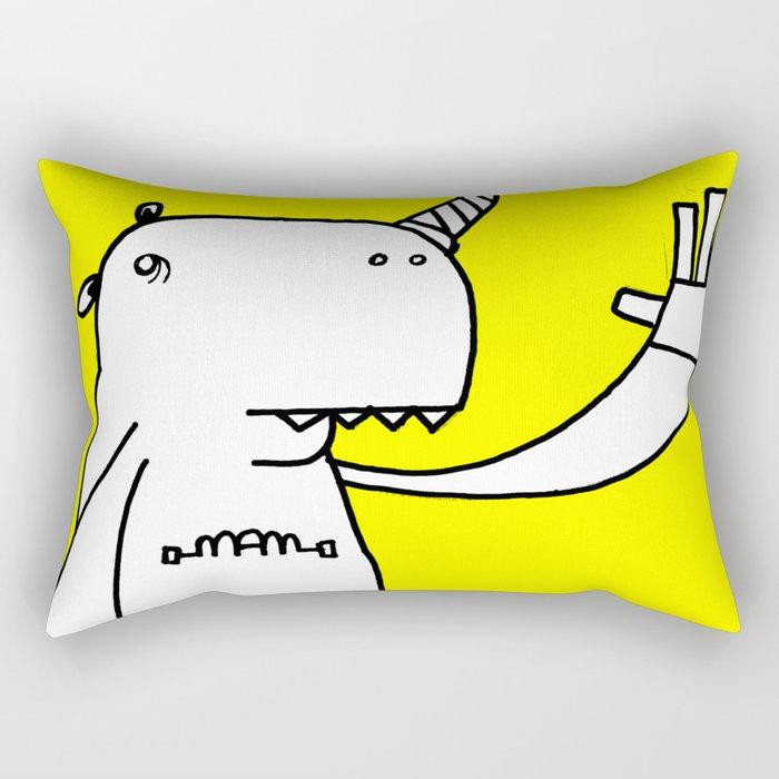 Uni monster bathed in glorious light. Rectangular Pillow
