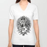 jaguar V-neck T-shirts featuring Jaguar  by Erick Gonzaga