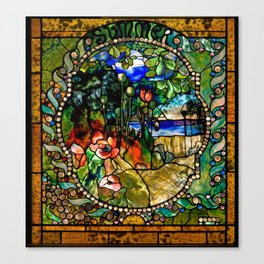 Louis Comfort Tiffany - Decorative stained glass 19. Canvas Print