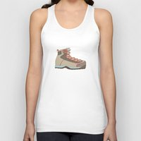 hiking Tank Tops featuring Hiking Boot 2 by Yellow Chair Design