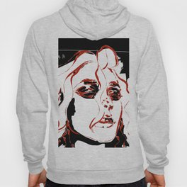 Smudge & Counting EMO Rough Digital Illustration Hoody