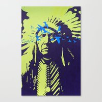 native american Canvas Prints featuring Native American  by Ty McKie Creations