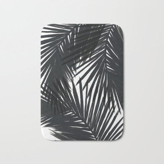 Palms Black Bath Mat