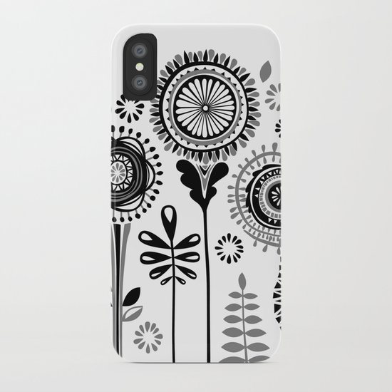 Folksy Flowerheads iPhone Case