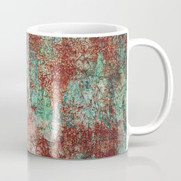 Abstract Rust on Turquoise Painting Coffee Mug