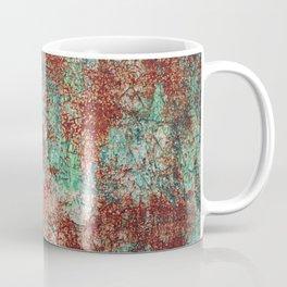 Abstract Rust on Turquoise Painting Coffee Mug