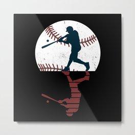 Baseball Baseball Player Metal Print