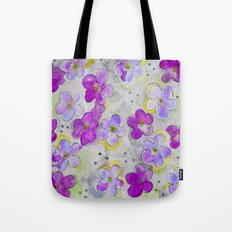 Radiant Orchid Print Tote Bag