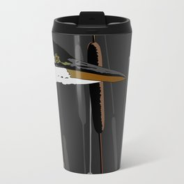 Great Blue Heron - Dark Background Travel Mug