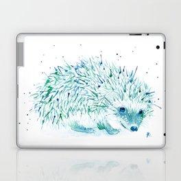 Abstract Blue Hedgehog Watercolor Laptop & iPad Skin
