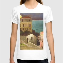 Full Moon over Taormina, Sicily, Italy - Ionian Sea landscape painting by Csontváry Kosztka Tivadar T-shirt