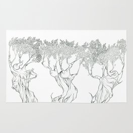 Three Free Trees Rug