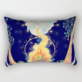 Woodland Campfire Rectangular Pillow