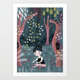 Midnight Ballet Art Print