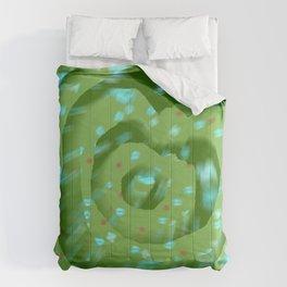 Green poppies S10 Comforters