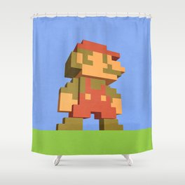 Mario NES nostalgia Shower Curtain