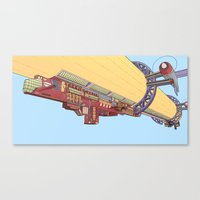 led zeppelin Canvas Prints featuring Zeppelin by the10s