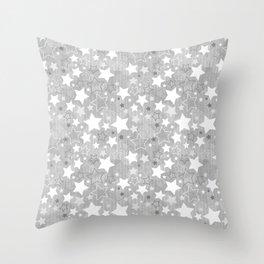 Stars Christmas pattern Throw Pillow