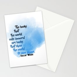 Immoral Books | Oscar Wilde Stationery Cards