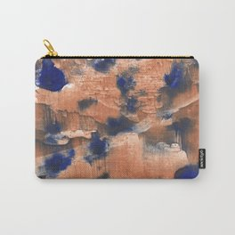 Peach Blue colorful watercolor design Carry-All Pouch