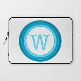blue letter W Laptop Sleeve