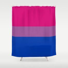 Bisexual Pride Flag LGBTQ Bi Pride Shower Curtain